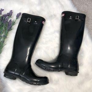 Hunter | Hunter Black Tall Boots Original Gloss